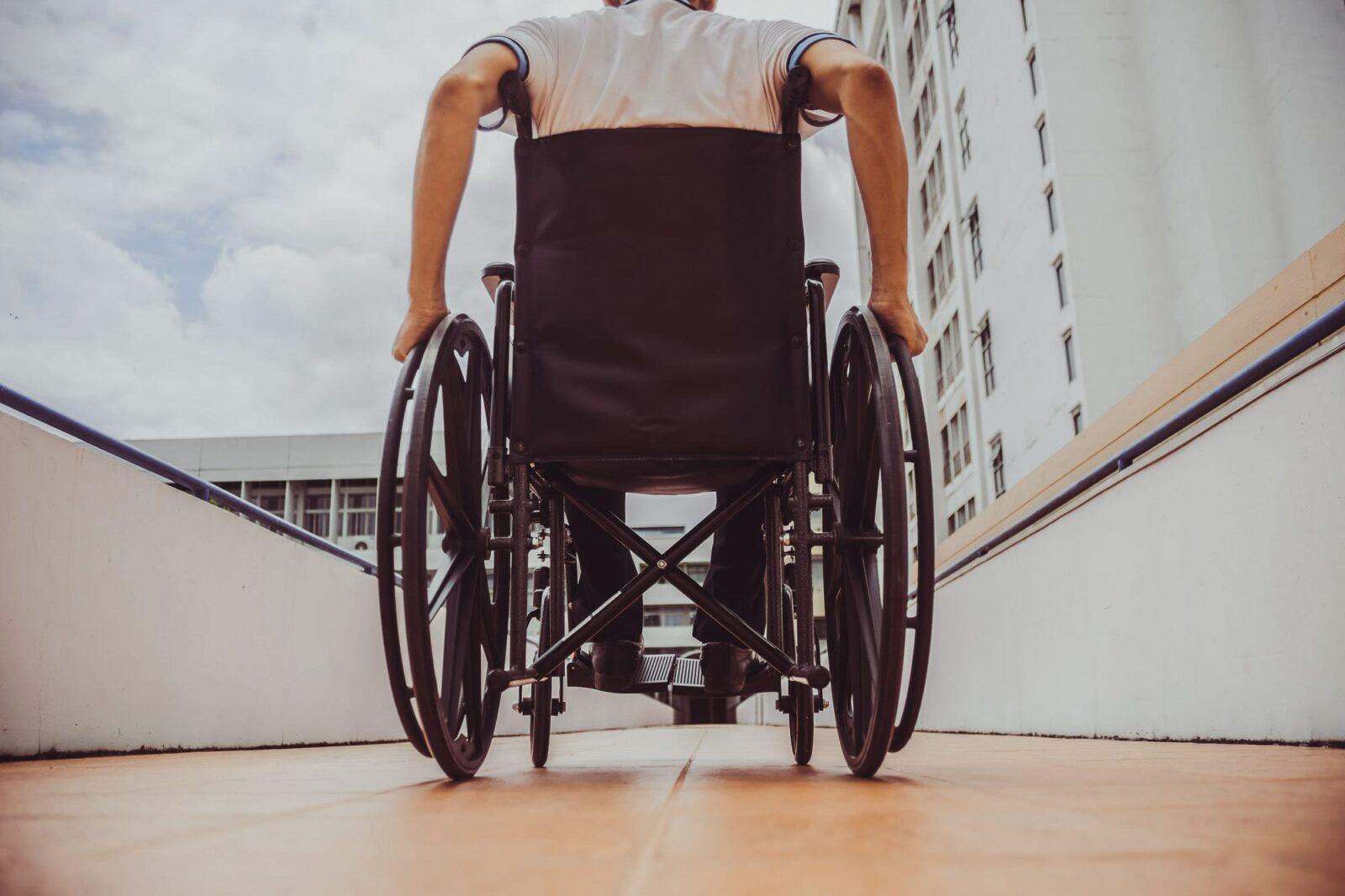 Wheelchair on platform